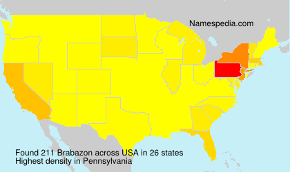 Surname Brabazon in USA