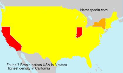 Surname Brabin in USA