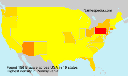 Surname Bracale in USA