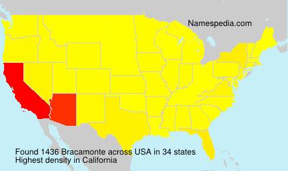 Surname Bracamonte in USA