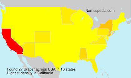 Surname Bracer in USA