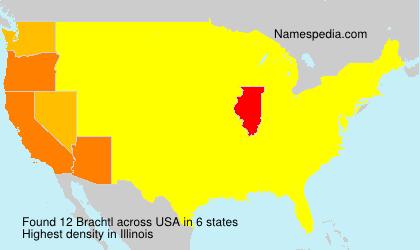 Familiennamen Brachtl - USA