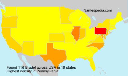 Familiennamen Bradel - USA
