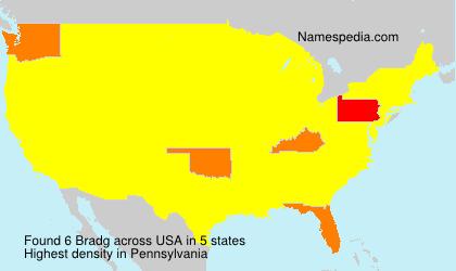 Familiennamen Bradg - USA