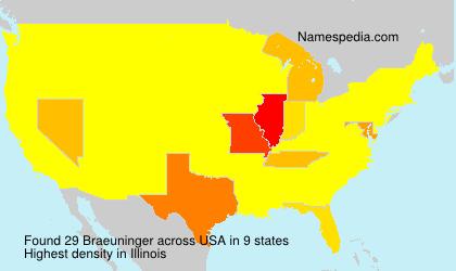 Surname Braeuninger in USA