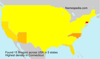 Surname Bragoni in USA