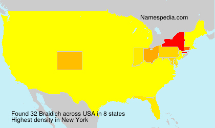 Surname Braidich in USA