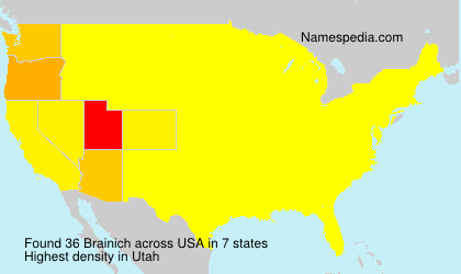 Surname Brainich in USA