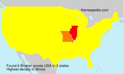 Surname Brajner in USA