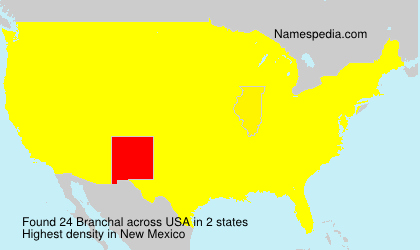 Surname Branchal in USA