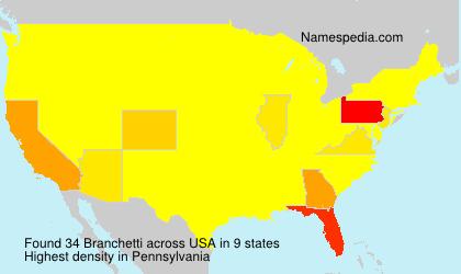 Surname Branchetti in USA