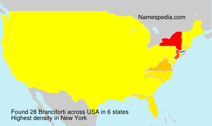 Surname Branciforti in USA
