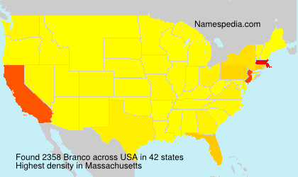 Surname Branco in USA