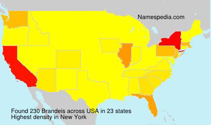 Familiennamen Brandeis - USA