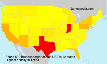 Familiennamen Brandenberger - USA