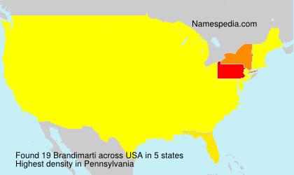 Familiennamen Brandimarti - USA