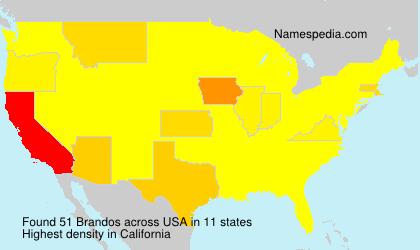 Familiennamen Brandos - USA