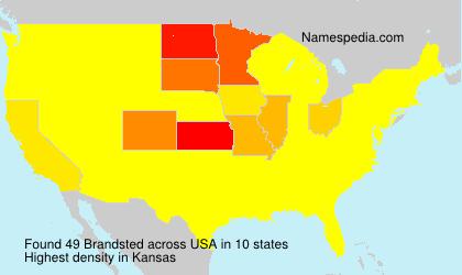 Surname Brandsted in USA