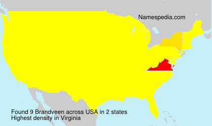 Surname Brandveen in USA