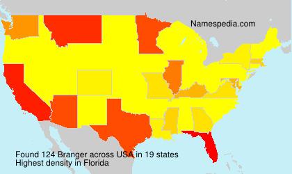 Surname Branger in USA