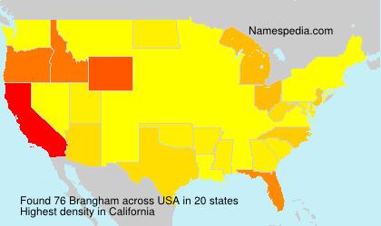Familiennamen Brangham - USA
