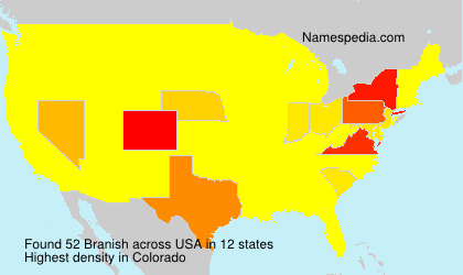Surname Branish in USA