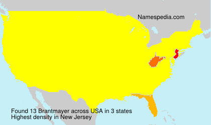 Surname Brantmayer in USA
