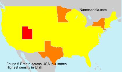 Surname Branto in USA