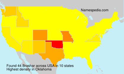 Surname Brashar in USA