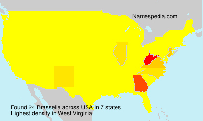 Surname Brasselle in USA