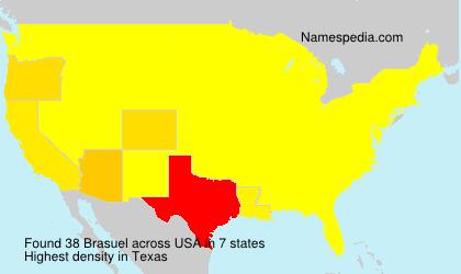 Surname Brasuel in USA