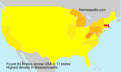 Surname Bratsis in USA