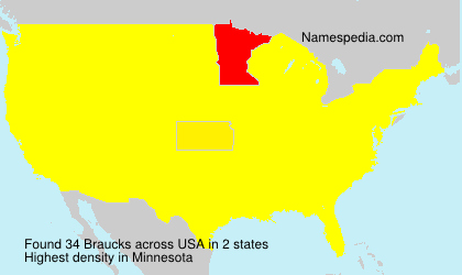 Surname Braucks in USA