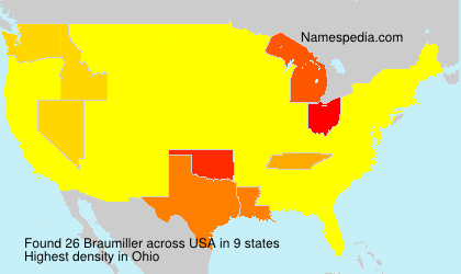 Surname Braumiller in USA