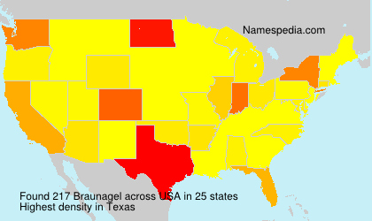 Surname Braunagel in USA