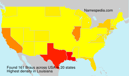 Surname Braus in USA