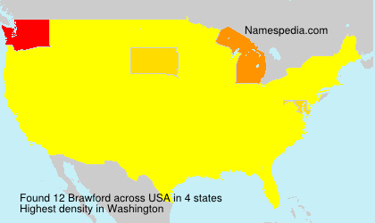 Surname Brawford in USA