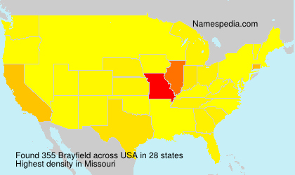 Surname Brayfield in USA