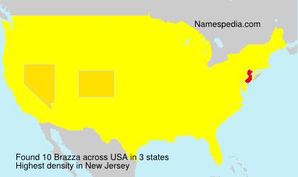 Surname Brazza in USA