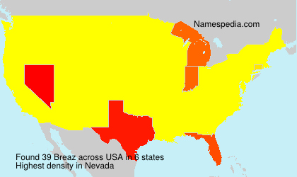 Surname Breaz in USA