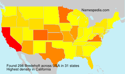 Surname Bredehoft in USA