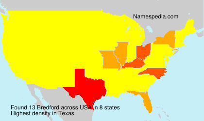 Surname Bredford in USA