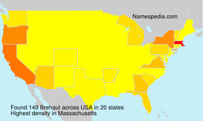 Surname Brehaut in USA