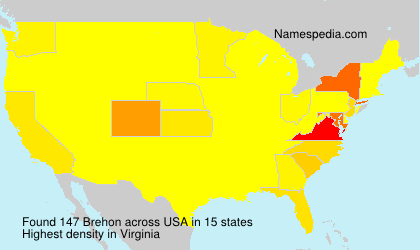 Surname Brehon in USA
