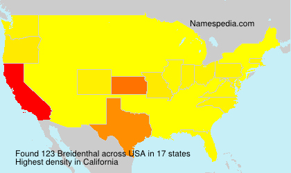 Surname Breidenthal in USA