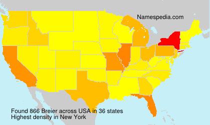 Familiennamen Breier - USA