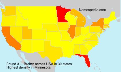 Familiennamen Breiter - USA