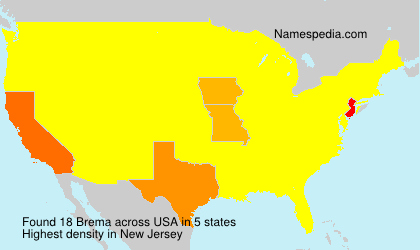 Surname Brema in USA