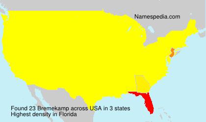 Surname Bremekamp in USA