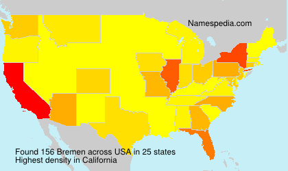 Surname Bremen in USA
